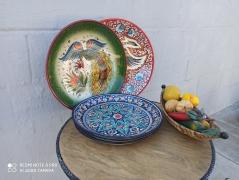 Ляганы + посуда из Узбекистана (пиалы, косушки и т.п.)