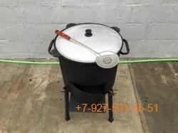 КПК-1003 10л. Печь с дверцей, казан, шумовка