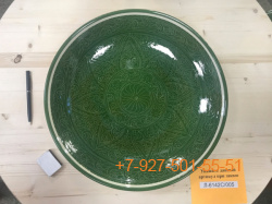 Л-6132С/001-005 32см. Ляган зеленый (карандаш)