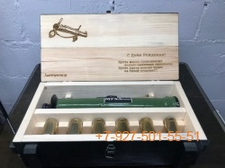 006 Гравировка лазерная на ящике (пожелание, логотип, текст)