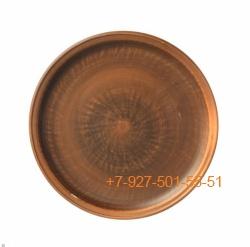 ПГ-022/299067 Тарелка мелкая 22см керамика красная глина гладкая