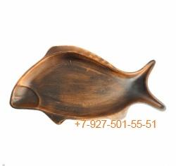ПГ-003/295396 Селедочница красная глина средняя