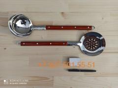 ШМ-1140 Шумовка 11*40см. нерж.сталь, цельнотянутая с дерев.ручкой