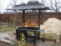 Мангал с крышей № 0022 (ковка)