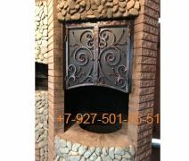 КмН-0002 Каминный набор  - кочерга, совок, щипцы и щетка