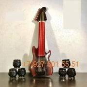 """П-0015 Подарочный набор """"Гитара 1л. + 6 стопок"""""""