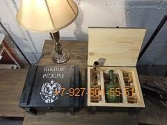 """ПН-004 """"РГД 0,5л. + 6 стопок """", Набор для мужчины в ящике """"военный стиль"""""""