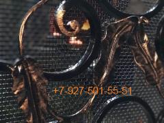"""КмН-0005 Решетка на камин кованая """"лист"""""""