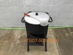 КПК-0803 8л. Печь с дверцей, казан, шумовка