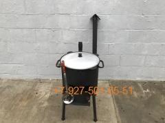 КПК-0806 8л. Печь с трубой и дверцей, казан, шумовка