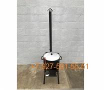 КПК-0807 8л. Печь-3мм с трубой и дверцей, казан, шумовка