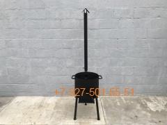 Печь № 0806-2мм. под казан 6,8л. с трубой и дверцей, со съемными ногами и полкой