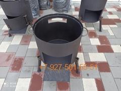 Печь № 1002-2мм. под казан 10л. со съемной полкой под угли и съемными ногами