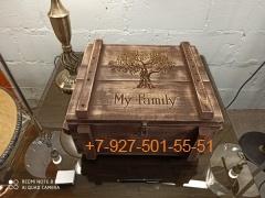 001 Ящик подарочный (дерево состаренное) - без гравировки
