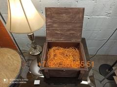 002 Ящик подарочный (дерево состаренное) - с гравировкой