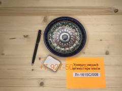 Лт-1615С/001-009 (15см.) Тарелка порционная с синей каймой, Риштан