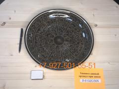 Л-5132С/002-005 32см. Риштанский Ляган коричневый Плоский