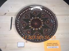 Л-5138П/001 38см. Риштанский Ляган коричневый Карандаш Плоский