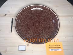 Л-5138С/001-003 32см. Риштанский Ляган коричневый Плоский