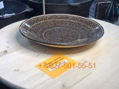 Л-5142С/004 42см. Риштанский Ляган коричневый Карандаш Плоский