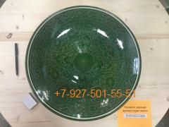 Л-6134П/001-005 34см. Ляган зеленый (карандаш) углубленный