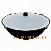 К-22к Казан чугунный 22 литра круглое дно