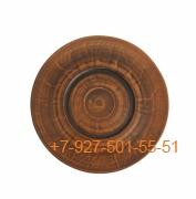 ПГ-020/290599 Тарелка мелкая 20см керамика красная глина гладкая