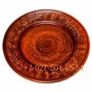 ПГ-020/277661 Тарелка мелкая для пасты 20см керамика Красная глина резная