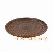 ПГ-030/290599 Тарелка мелкая для пиццы 30см керамика Красная глина резная