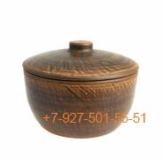 ПГ-025/295399 Кашник 2,5л красная глина гладкий