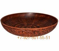 ПГ-014/282968 Миска для пельменей 1,4л керамика Красная глина