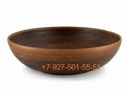 ПГ-016/275322 Миска красная глина 168мм гладкая