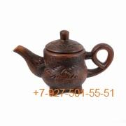 ПГ-001/290597 Чайник заварочный 1л красная глина резной
