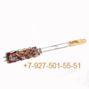 ШПС-0100-223354 Решетка для барбекю СОСИСКИ нерж, 500*185*85*15мм