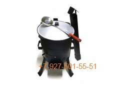 КПК-0805 8л. Печь с трубой и дверцей, казан, шумовка