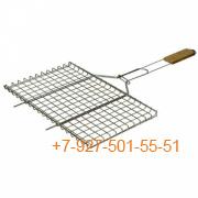 ШПС-0106-244464 Решетка для барбекю универсальная нерж, 620*350*260*25мм